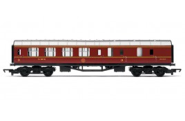 Railroad 3rd Class Brake Coach LMS Crimson 5200