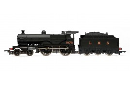 RailRoad Johnson/Deeley 1000 Class Midland Compound 4-4-0 with Fowler Tender LMS Unlined Black 1072