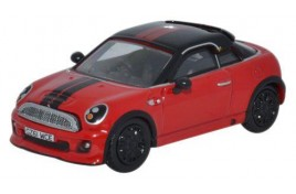 Mini Coupe - Chilli Red/Black 	OO Scale