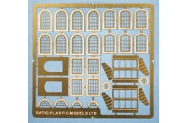 Industrial Windows - Various Designs on Etched Brass Sheet N Scale