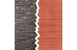 Brick Walling Sheets Blue Pack of 4 N Scale
