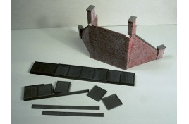 Abutments & Wing Walls x 1 Pair Plastic Kit OO Scale