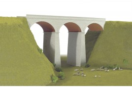 Three Arch Viaduct Plastic Kit OO Scale