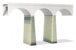2 Stone Piers for Viaducts Plastic Kit OO Scale