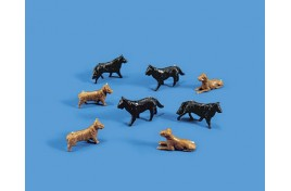 Dogs x 8 - OO Scale