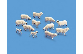 Sheep x 10 & Lambs x 2 OO/HO Scale
