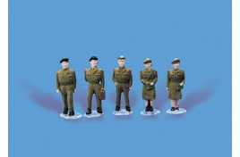 Army Personnel x 5 OO Scale