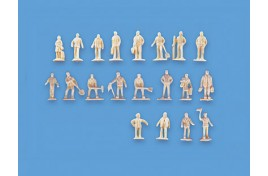 Assorted Station Figures x 20 Set A (unpainted) N Scale