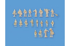 Assorted Station Figures x 20 Set B (unpainted) N Scale