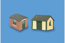 Lineside Huts x 2 N Scale