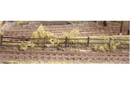 Flexible Lineside Fencing (wood brown) N Scale