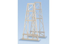 2 Steel Trestles Plastic Kit N Scale