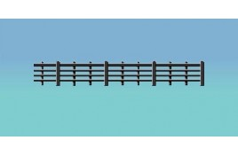 Wooden Lineside Fencing 4 Bars - Black OO Scale