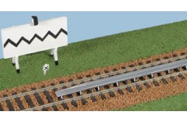 Water Troughs and Warning Signs Plastic Kit OO Scale