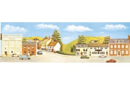 Market Town Extension Backscene Large OO Gauge