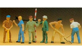 Road Workers with Tools x 6 OO/HO Scale