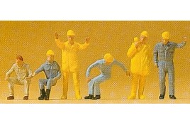 Crane Personnel x 6 OO/HO Scale