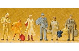 Standing Passengers x 6 OO/HO Scale