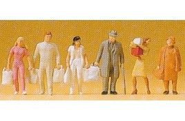 People Shopping x 6 OO/HO Scale