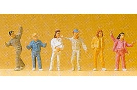 Children & Teenagers x 6 OO/HO Scale