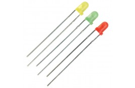 3mm Yellow Miniature LEDs with Resistors x 10