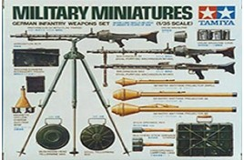MILITARY MINIATURE GERMAN INFANTRY WEAPONS SET 1/35 SCALE