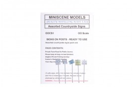 OOCS1 Assorted Countryside Signs (pack of 5) OO Scale