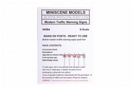NWS4 Modern Road Warning Signs (pack of 5) N Scale