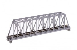 Single Track Truss Girder Bridge 248mm Silver N Scale