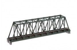 Single Track Truss Girder Bridge 248mm Green N Scale