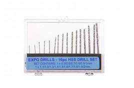 16pc HSS Drill Set 0.5 - 2mm