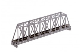 Single Track Truss Girder Bridge 248mm Grey N Scale