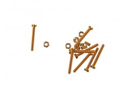 10BA Brass Cheesehead Screws & Nuts x 8