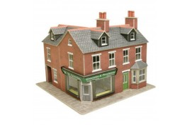 Red Brick Corner Shop Card Kit OO Scale
