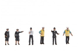 Police & Security Guards x 6 OO Scale