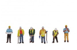 Civil Engineers & Workers x 6 OO Scale