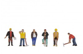 Construction Workers x 6 OO Scale