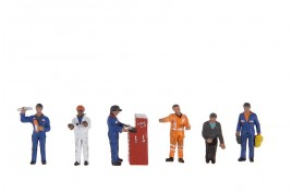 Traction Maintenance Depot Workers x 6 & Tools OO Scale