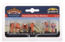 Permanent Way Workers x 6 & Equipment OO Scale