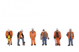 Trackside Workers x 6 OO Scale