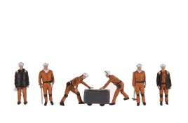 1960/70s Coal Miners x 6 OO Scale