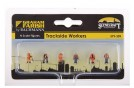 Trackside Workers x 6 N Scale