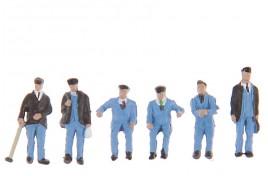 1950s Train Crew x 6 N Scale