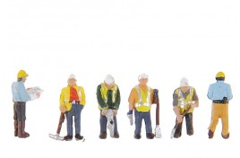 Civil Engineers & Workers x 6 N Scale
