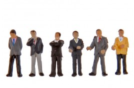 Businessmen x 6 N Scale