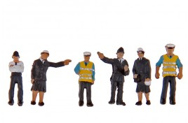 Police & Security Guards x 6 N Scale
