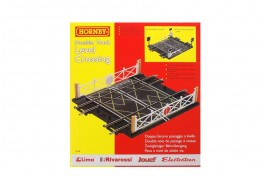 Double Track Level Crossing with Gates & Barriers OO Scale