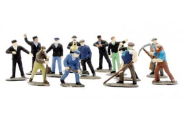 Railway Workmen x 39 (unpainted) OO Scale