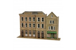 Low Relief Bank & Shop Card Kit OO Scale