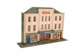Low Relief Cinema & Shops Card Kit OO Scale